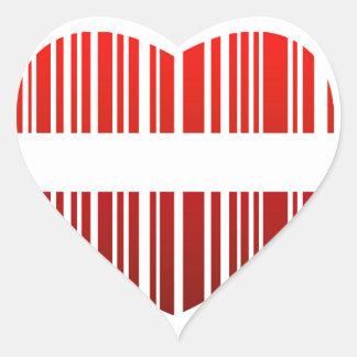 valentijnskaart streepjescode hart stickers