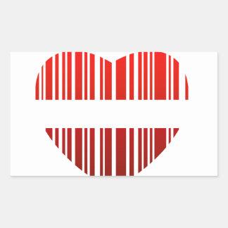 valentijnskaart streepjescode rechthoekvormige sticker