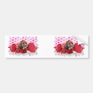 Valentijnskaarten - Cockapoo - Riley Bumpersticker