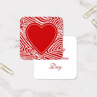 Valentijnskaarten Vierkante Visitekaartjes