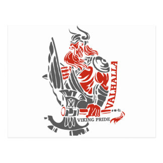 Valhalla - de Trots van Viking - het Ontwerp van Briefkaart