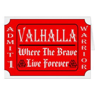 Valhalla laat 1 Strijder toe waar Moedig Levend Kaart