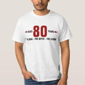 Van 80 jaar het man, de mythe, de legende t shirt