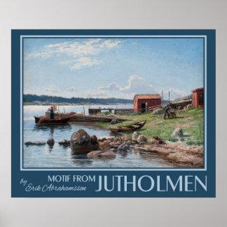 """Van Abrahamsson"""" Motief van Jutholmen"""" de Poster"""