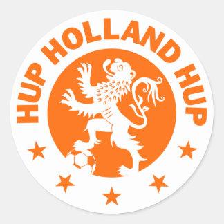 Van Achtergrond hup Holland - Editable kleur Ronde Stickers