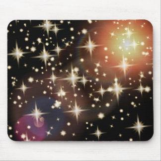 Van achtergrond sterren lichte gloedgrafiek muismat