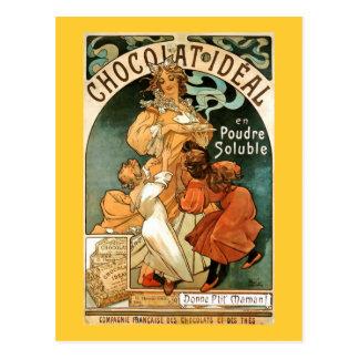 Van Alphonse (Alfons) Mucha Chocolat Ideal Briefkaart