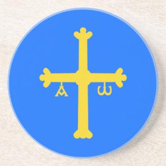 Van Asturias (Spanje) de Vlag Zandsteen Onderzetter