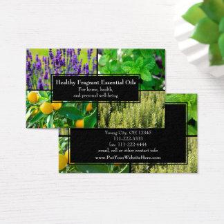Van bedrijfs essentiële Oliën Natuurlijke Kruiden Visitekaartjes