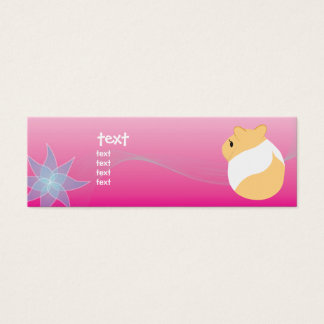 Van bloemen en hamsters mini visitekaartjes