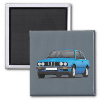 Van BMW E30 (3 -3-serie) het blauw Magneet