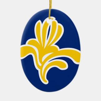 Van Brussel (België) de Vlag Keramisch Ovaal Ornament
