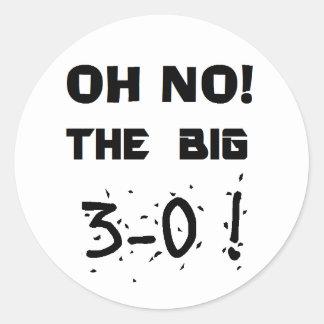 """van de """"30ste Verjaardag"""" de Stickers"""