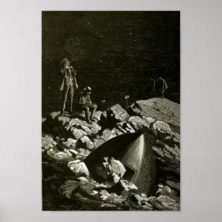 Van de Aarde aan de Maan door kunst 2 van Jules Poster