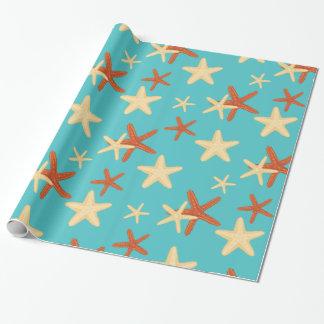 Van de achtergrond zeester patroon - Verpakkend Cadeaupapier