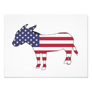 """Van de """"Amerikaanse Vlag"""" de Ezel Fotoafdrukken"""