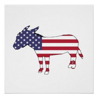 "Van de ""Amerikaanse Vlag"" de Ezel Poster"