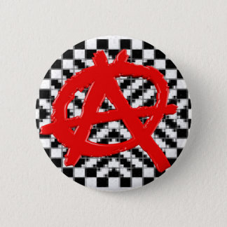 Van de anarchie de controleurs (rode) Knoop Ronde Button 5,7 Cm