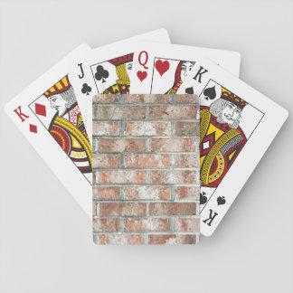 Van de Bakstenen van de Bakstenen muur van Grunge Pokerkaarten
