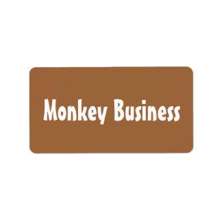 Van de bedrijfs aap Etiketten Addressticker