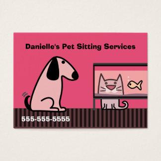 Van de Bedrijfs babysitter van het huisdier Rood Visitekaartjes
