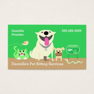Van de Bedrijfs babysitters van het huisdier Visitekaartjes