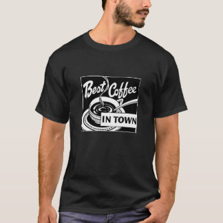"""Van de """"beste Koffie in Stad"""" Dark T Shirt"""