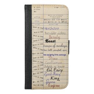 Van de Bibliotheek van Schoonheid & het Dier iPhone 6/6s Plus Portemonnee Hoesje