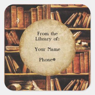 Van de Bibliotheek van… Vierkante Sticker