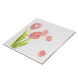 Van de bloemRetr van de ceramiektegel de de Roze Tegeltje