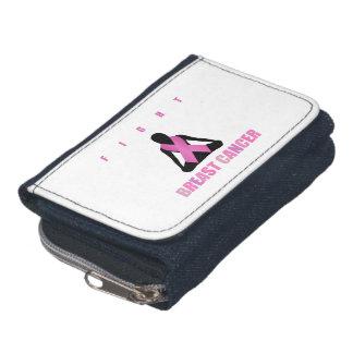 Van de borstkanker van de strijd het roze lint op portemonnee