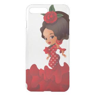 Van de cartoonchibi van het flamenco kawaiimeisje iPhone 8/7 plus hoesje
