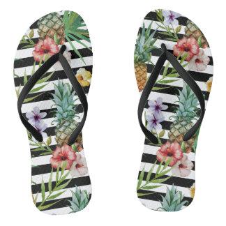 Van de de ananas de tropische bloem van de teenslippers