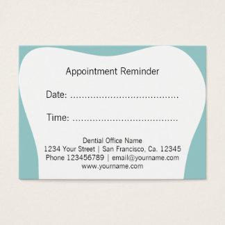 Van de de benoemingsherinnering van de tandarts visitekaartjes