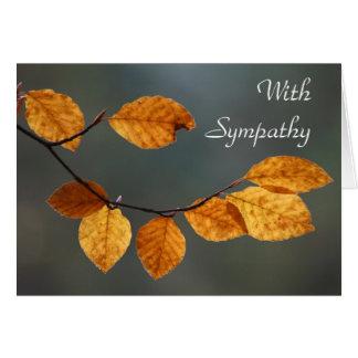"""Van de de bladeren de kaart """"met sympathie"""" van de"""