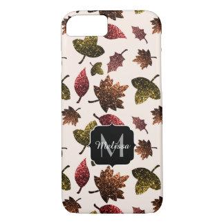 Van de de bladerenherfst van Sparkly het Monogram iPhone 8/7 Hoesje
