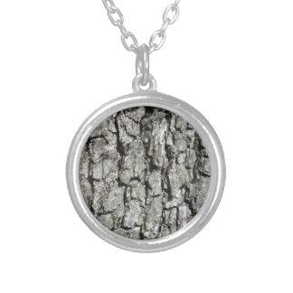 Van de de boomschors van de peer de zilver vergulden ketting
