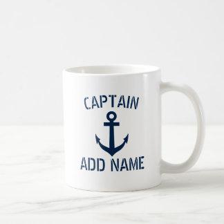 Van de de bootkapitein van de douane van de de koffiemok