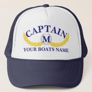 Van de de bootnaam van Momogrammed de kapiteins Trucker Pet