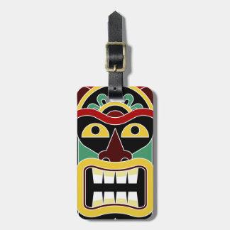 Van de de douanetekst van de Totem van Tiki de Kofferlabel