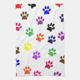 Van de de drukkat van de poot het huisdieren kleur handdoek