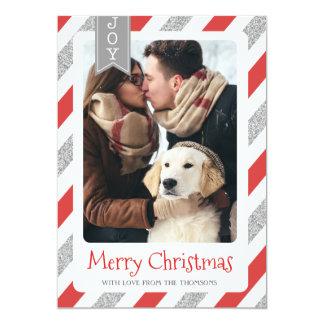 Van de de fotokaart van Kerstmis vrolijk Kerstmis Kaart