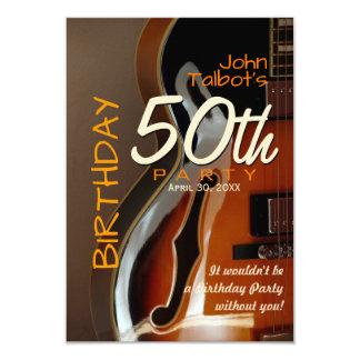 Van de de gitaar vijftigste Verjaardag van Archtop Kaart