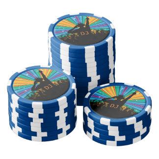 Van de de illustratiedouane van DJ de spaanders Pokerchips