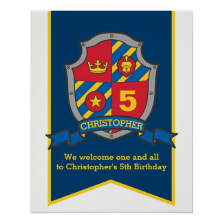 Van de de jongens het 5de verjaardag van ridders poster