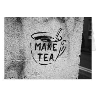 van de de kunst de slogankaart maak thee van de