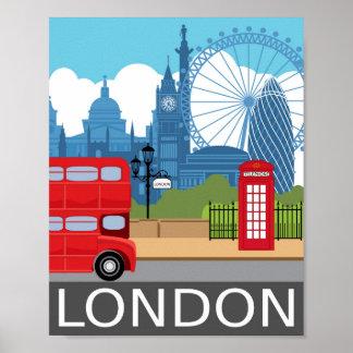 Van de de kunstdruk van Londen poster van de de
