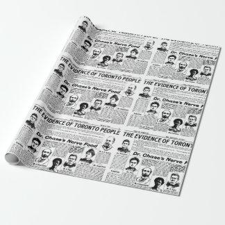 Van de de mensen vintage krant van Toronto de Inpakpapier