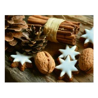 Van de de okkernotenkaneel van Kerstmis de Briefkaart