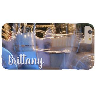 Van de de prinsesbus van Sparkly de gouden blauwe Barely There iPhone 6 Plus Hoesje